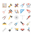 pack of power tools flat icons vector image vector image