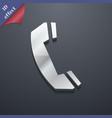 Phone icon symbol 3D style Trendy modern design vector image