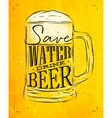 Poster drink beer yellow vector image vector image
