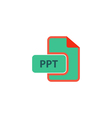 PPT Icon vector image vector image