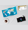 realistic world map with tag pins on it vector image vector image