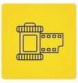 Retro photo icon Camera roll sign vector image vector image