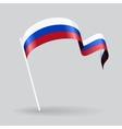 Russian wavy flag vector image vector image