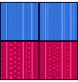 Set of striped patterns vector image vector image