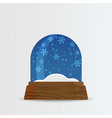 snow ball snow globe with snow fall and snowdrift vector image vector image