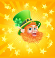 st patricks day leprechaun background vector image