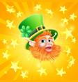 st patricks day leprechaun background vector image vector image