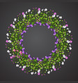 sweet pea wreath vector image vector image