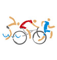 swimmer cyclist runner racers vector image vector image