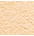 texture crumpled sepia paper vector image