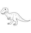 tyrannosaurus rex cartoon bw vector image vector image