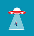 ufo target are sucking people into spacecraft vector image