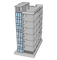 unfinished building on white background vector image