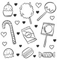 various candy style doodles vector image vector image