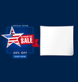 veterans day usa sale poster blue vector image vector image
