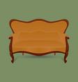 vintage furniture retro brown sofa on green backg vector image vector image