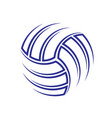 volleyball background symbol vector image vector image