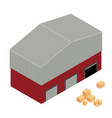 warehouse isometric vector image vector image
