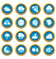 weater icons set simple style vector image vector image