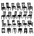 wooden chairs vector image