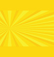 yellow rays pop art background vector image