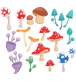 Different Mushrooms for Computer Game vector image
