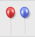 3d realistic glossy metallic red and blue vector image vector image