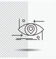 advanced future gen science technology eye line vector image