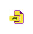 AVI Icon vector image vector image