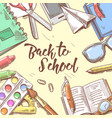 back to school doodle educational hand drawn vector image vector image
