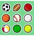 Ball stickers vector image vector image