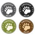 bear paw print circle logo design collection vector image vector image