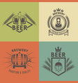beer and brewery isolated monochrome labels vector image vector image