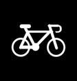 bicycle icon design vector image vector image