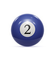 Billiard two ball isolated on a white background vector image