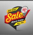 black friday sale banner template special offer vector image