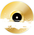 black vinyl disk with grunge splats and brush stro vector image vector image