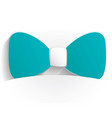 bow icon paper vector image vector image