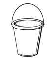 bucket with handle vector image vector image