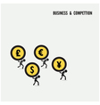 Business competition idea concept vector image vector image