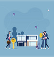 business real estate concept vector image