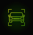 car green icon - vehicle outline concept vector image vector image