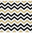 Chevron seamless pattern Glittering golden surface vector image vector image