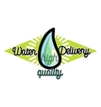 Color vintage Water delivery emblem vector image