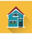 Colorful home building design vector image vector image