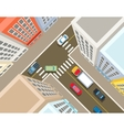 Crossroads in the city top view vector image vector image