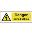 Danger Buried Cables Safety Sign vector image vector image