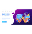 digital marketing concept landing page vector image vector image