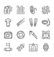 diving equipment accessories and scuba gear thin vector image