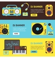 Dj Audio Music Equipment Banner vector image vector image